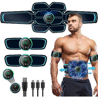 Muscle Toner,abs Stimulating Belt, Abdominal Toner.training Device For Muscles,usb Rechargeable Wireless Portable Gym Device,muscle Sculpting At Home