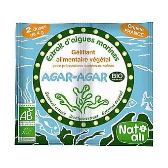 Organic agar Agar Vegetable food gelling agent 2 packets of 4g