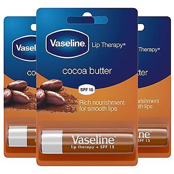 3x of 4gm, Vaseline Cocoa Butter Rich Nourishment Lip Therapy Jelly Balm Sticks