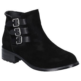 Divaz Lexi Womens Ladies Leather Ankle Boots Black UK Size