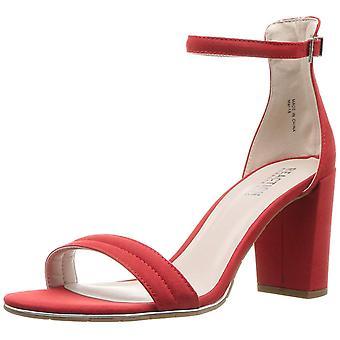 Kenneth Cole reação Womens Lolita couro aberto Toe Casual tornozelo cinta sandálias