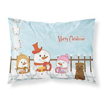 Caroline'S atesora alegres villancicos de Navidad Glen de Imal Tan Fabric Funda de almohada estándar Bb2391Pillowcase, Multicolor