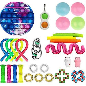 Sensory Fidget Toys Set 30 Pack Stress Relief And Anti-anxiety Hand Toys For Kids And Adults Calming Toys
