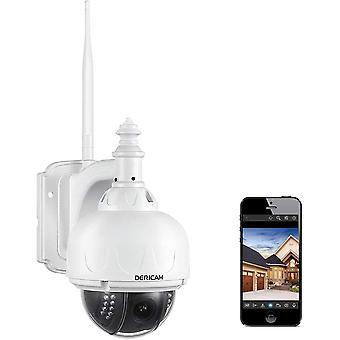 Dericam WLAN IP Kamera, berwachungskamera Auenbereich, PTZ Kamera, 4 optisch Facher Zoom, Autofokus,