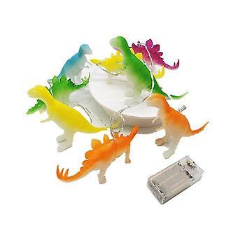 String lys med lyse dinosaurer realistisk udseende dinosaurer lys 8 leds børn gave plast legetøj til soveværelse dekoration