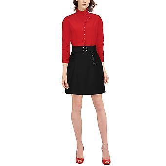 Chic Star Uld nederdel i sort