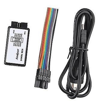24Mhz 8 Kanal 24m/Sekunden Logik-Analysator Debugger elektronische USB Saleae Logik-Analysator für Arm Fpga-Analysator Logik 24m 8ch