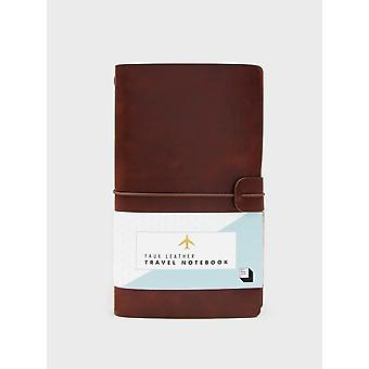 Brown Faux Leather Travel Notebook