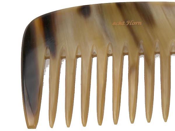 Hans Kniebes Beard kam ægte bøffel Horn bred tænder 9,5 cm