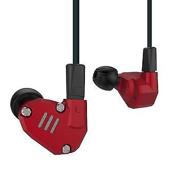 KZ Audio KZ ZS6 - 2DD + 2BA Quad Driver Earbuds - Red