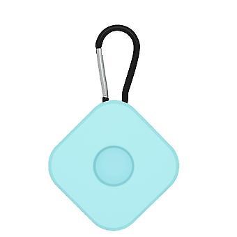 2 Stk for lufttags beskyttende sak anti tapt nøkkelring firkantet lyseblå
