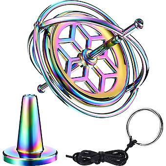 HanFei Gyroskop Metall Anti-Schwere Spinnen Top Gyroskop Balance Spielzeug Pdagogisch Geschenk Bunt