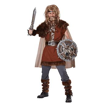 Mens Mighty Viking Costume Warrior History Fancy Dress