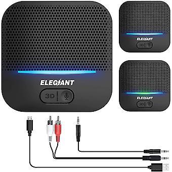 Bluetooth Empfänger 5.0 Adapter Audio Receiver 3D-Soundeffekt mit Low Latency 20 Stunden Spielzeit