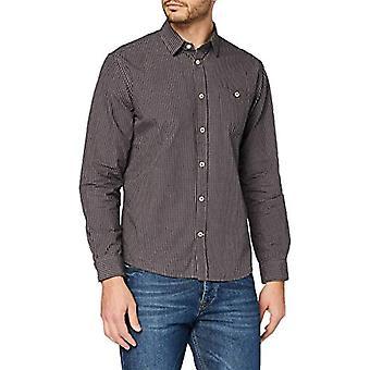 Tom Skräddare Mini Vichy T-Shirt, 24636-Navy Brown Fil, S Mäns