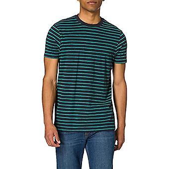 Springfield Camiseta Regular Rayas Reconsider T-Shirt, Medium Blue, XXL Men's