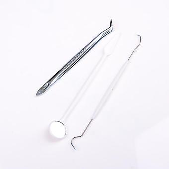 الفولاذ المقاوم للصدأ مزدوجة ينتهي أسنان طبيب الأسنان نظيفة اختيار أداة الأسنان.