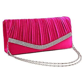 Satin Flap Hand Holding Bag For Wedding Party