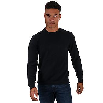 Maglione uomo Ted Baker Staylay Textured Crew Neck in Blu