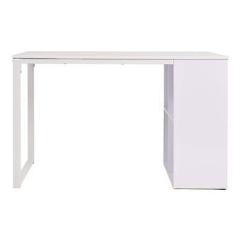 vidaXL Työpöytä 120×60×75 cm Valkoinen