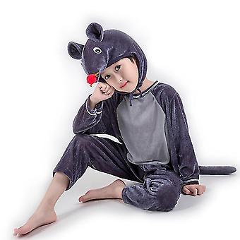M (120cm) dunkel graue Maus lange Cosplay Anzug Kostüm Bühne Kleidung Urlaub Kleidung cai580