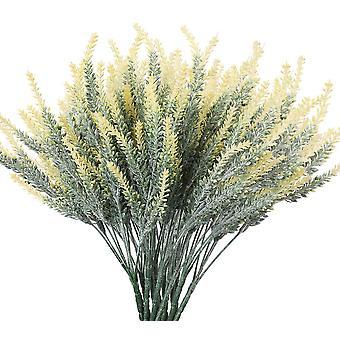 Kunstmatige lavendel bloemen nep planten met nep plastic bruidsboeket voor thuis keuken decor 10 stuks paars
