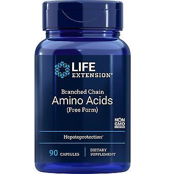 تمديد الحياة المتفرعة سلسلة الأحماض الأمينية قبعات 90