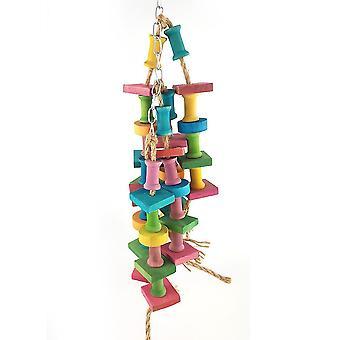 لعبة جديدة لدغة الببغاء خشبية طاحونة لعبة الوقوف قفص الطيور شنقا لعبة الطيور ES2201