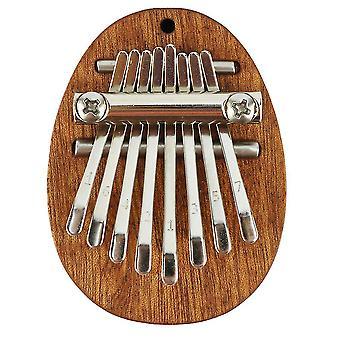 8 teclas Kalimba Thumb Piano Instrumento Musical de Madeira para Iniciantes