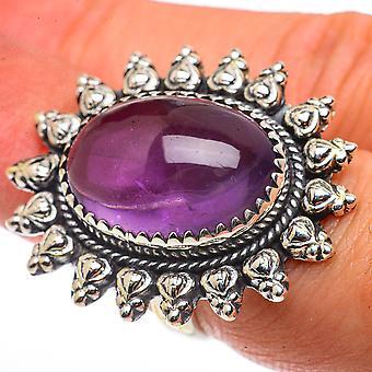 Grand anneau d'améthyste taille 6.75 (925 argent sterling) - Bijoux Boho Vintage faits à la main RING66835