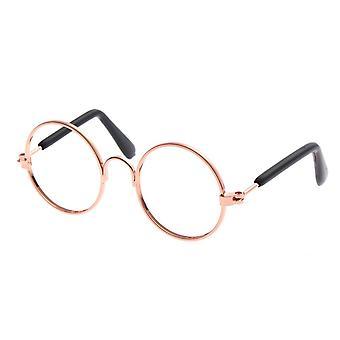 1pc Accesorios de muñeca gafas redondas