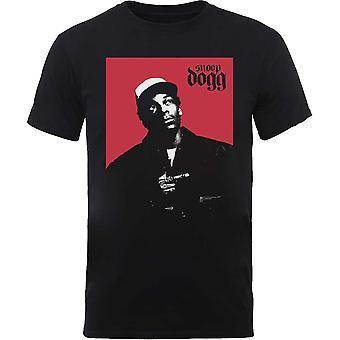 Snoop Dogg - Camiseta XX-Grande masculina da Praça Vermelha - Preto