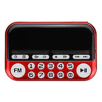 Přenosný digitální displej FM Radio TF Karta USB MP3 Hudební přehrávač Budík Radiový reproduktor