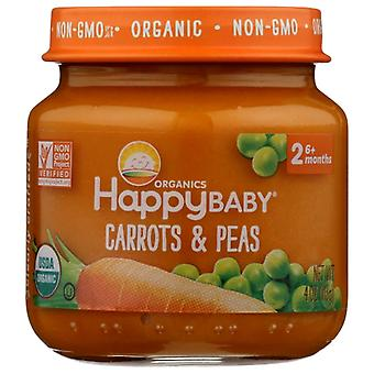 Happy Baby Stage 2 Peas And Carrots, Case of 6 X 4 Oz