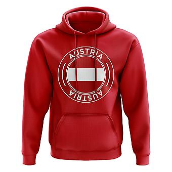 Autriche Football Badge Hoodie (Rouge)