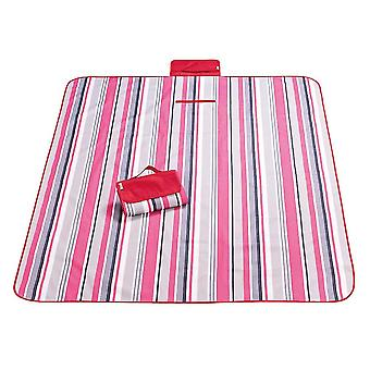 Pink and red 145x180cm outdoor moisture-proof waterproof oxford cloth picnic blanket mat striped park blanket necessary for picnic homi2822