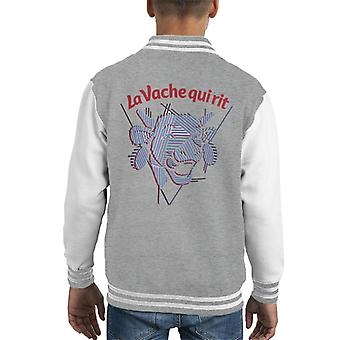 The Laughing Cow Strips Kid's Varsity Jacket