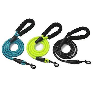 Multicolor Reflective Round Rope Dog Leash Dog Pull Strap Comfortable Handle