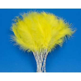36 Gul 28cm Fjäder Spray Picks för Blomsterhandlare och hantverk