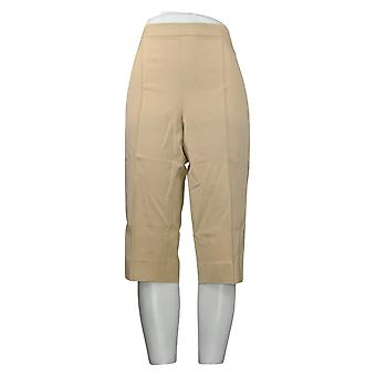 Isaac Mizrahi Live! Leggings Regular 24/7 Stretch Pedal Pusher Braun A377472