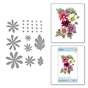 Spellbinders Etched Dies By Susan Tierney-Cockburn - Chrysanthemum- Susan's Autumn Flora