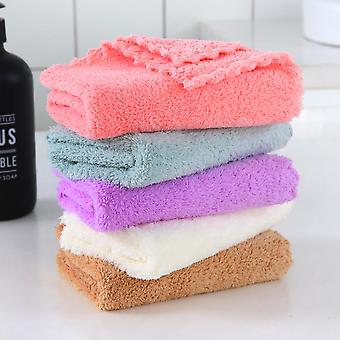 Factory Stock Coral Fleece Children's Sassafras Face Small Square Makeup Remover Towel 5 Pack Rag Small Towel