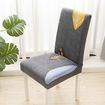 Printed Dinner Chair Cover Elastic Chair Protective Cover Detachable