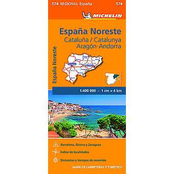 Aragon Cataluna  Michelin Regional Map 574 Map Michelin Regional Maps 574