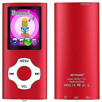 אדום 16g mp3 mp4 נגן מוסיקה עם מציג תמונות e-קורא קורא קול מקליט fm רדיו וידאו lc1114