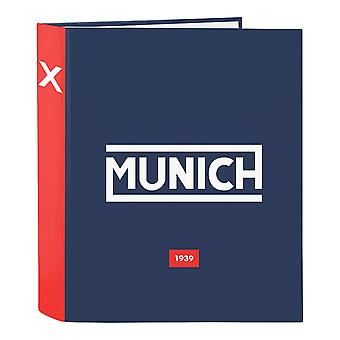Ring binder Munich Spike Navy Blue