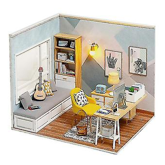 Dollhouse accessories mini doll house casa free dust cover diy wooden doll house miniatures kit dollhouse furniture