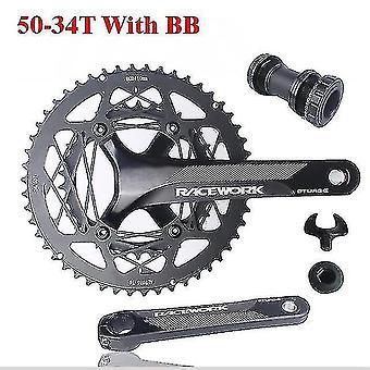 Велосипедные инструменты 110bcd велосипед кривошип 22s дорожный велосипед полые двойные звездочки 170 мм 53-39t 50-34t двойное цепное цепное сцепное сечение