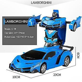 Transformační roboti elektrické rc auto sportovní vozidla model hračky vzdálené venkovní rc deformace auta