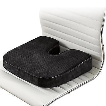 Coussin de siège en mousse à mémoire de forme pour sièges d'auto Bureau à domicile et voyage |le nec plus ultra en matière de confort | Aide avec le cadeau du bas du dos